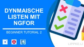 Ionic Beginner Tutorial Steffen Lippke Listen ngfor