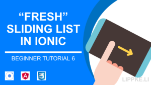 Ionic Beginner Tutorial Steffen Lippke Sliding item