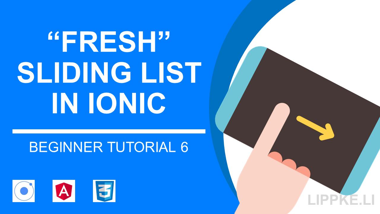 Item Sliding mit Ionic Icons – Optionen für Listeneinträge | S  Lippke
