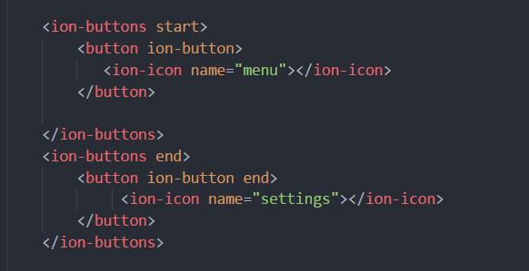 ion-button ist ein solcher Marker