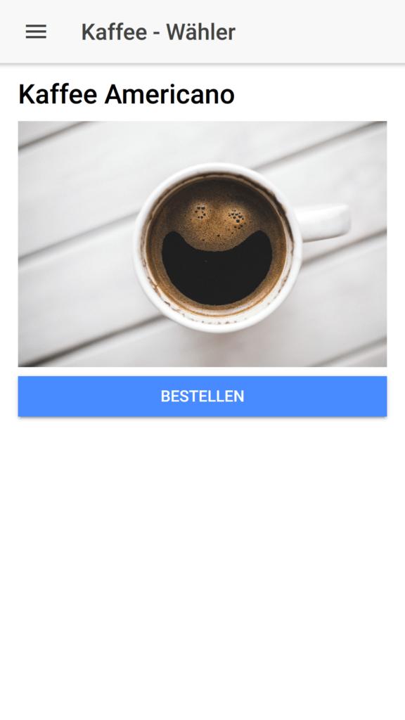 Kaffee Wähler Ionic Menu einfach erklärt