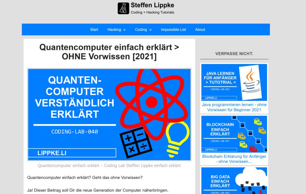 00 Quantencompute erklärt - Verschlüsselung erklärt Steffen Lippke Hacking Series