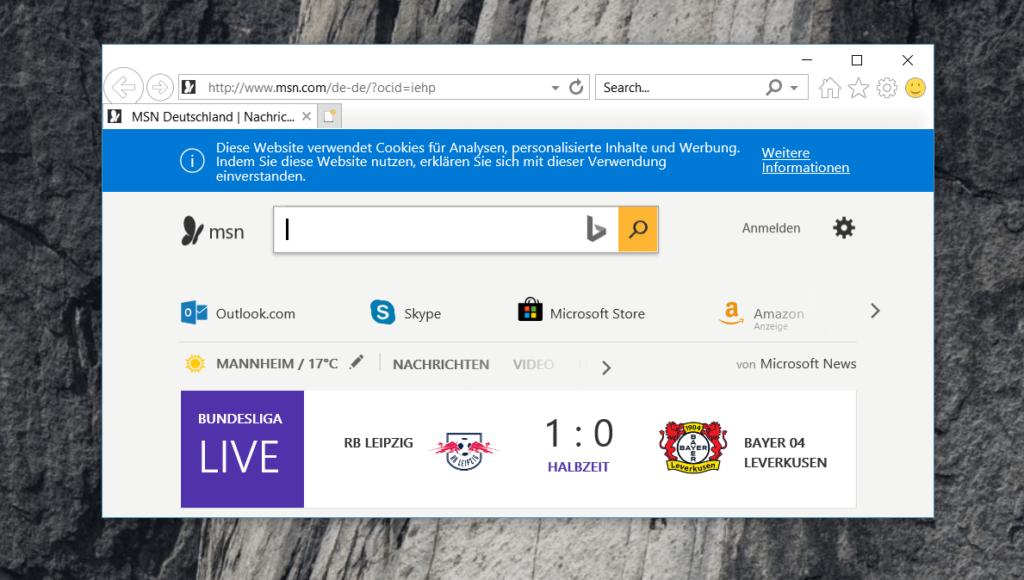 Internet Explorer akzeptiert inzwischen JavaScript