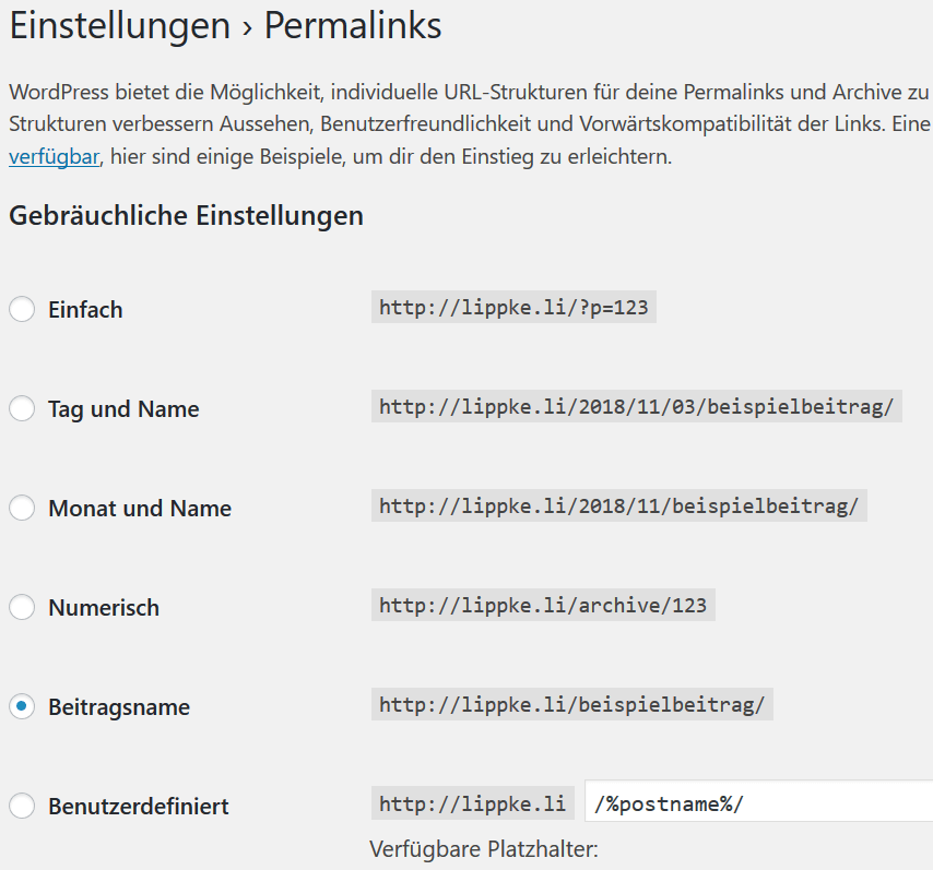 Rewriting in WordPress ist eine praktisches Features