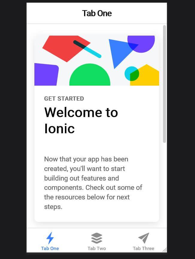 04 Ionic Tab one