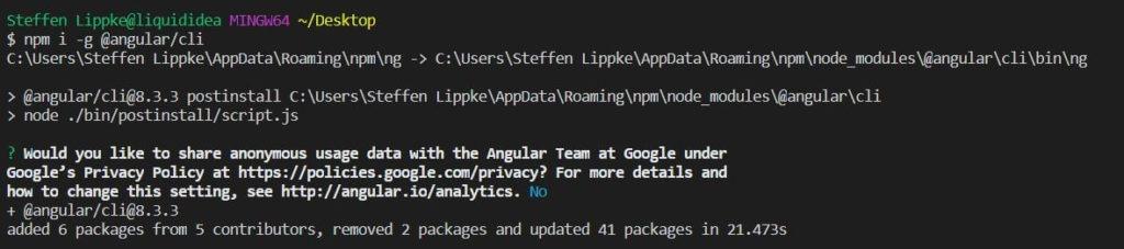 01 Angular install Angular Tutorial Deutsch Steffen Lippke