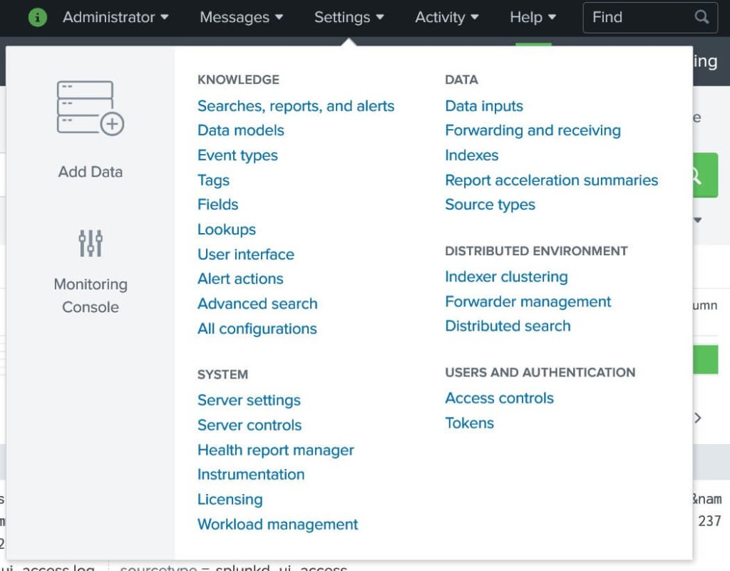 Splunk Settings Steffen Lippke Splunk Tutorial Deutsch 30 Min