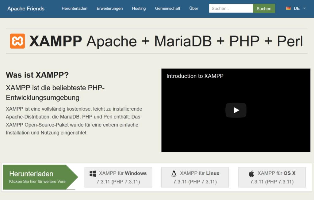 01 XAMPP für Laravel - Laravel Tutorial deutsch Guide Steffen Lippke