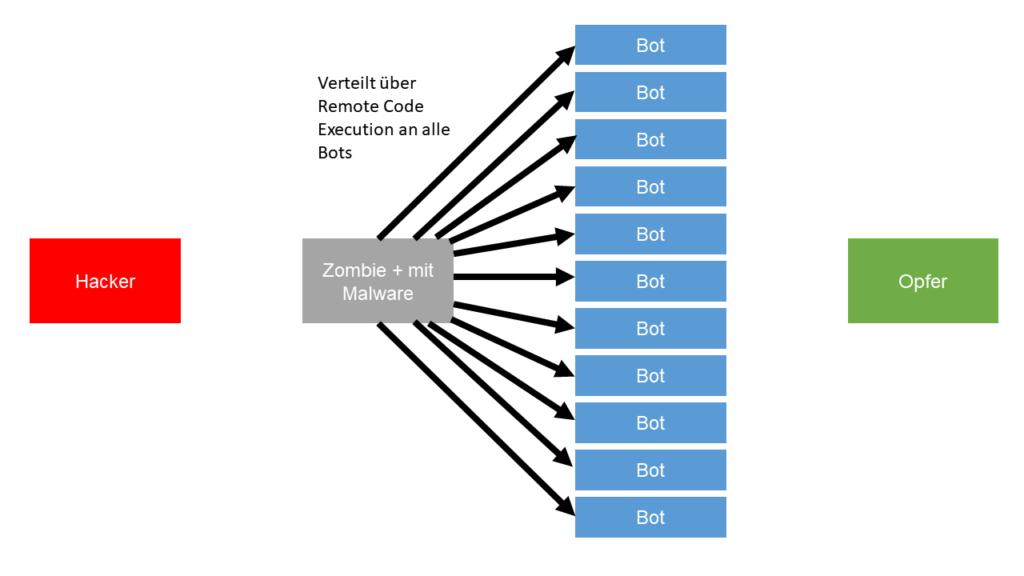 03 Verteilen Infos Botnet DDoS Angriff Steffen Lippke