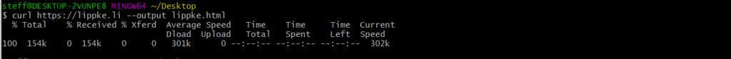 17 curl bash in file - - Linux Befehl Tutorial Guide Steffen Lippke