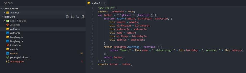 03 Automatisch erstellen sich JavaScript Dateien - TypeScript Tutorial Deutsch Coding Lab