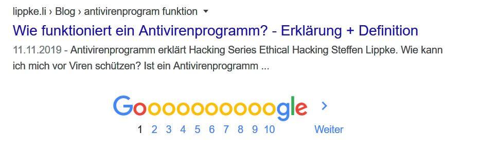 01 Gehe auf die hinteren Seiten von Google - Penetration Testing Tutorial deutsch Steffen Lippke