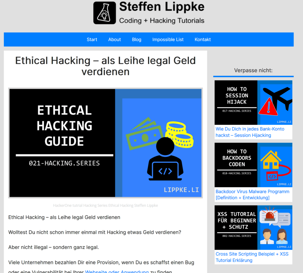 01 Hacking Guide- Was ist Hacking Definition Steffen Lippke - Hacking Series