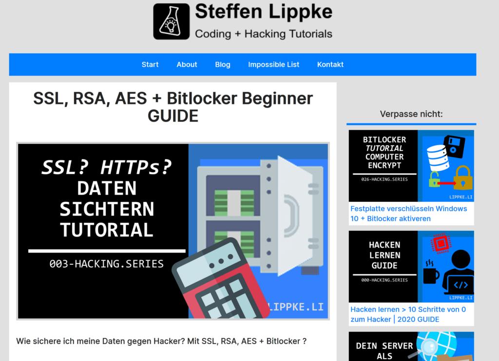 04 Was ist Verschlüsselung- Was ist VPN einfach erkärt Hacking Series by Steffen Lippke