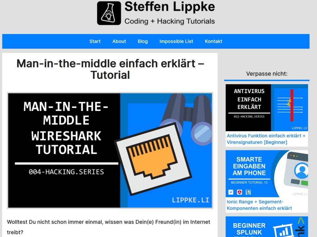 05 Man in the Middle einfach erklärt- Was ist VPN einfach erkärt Hacking Series by Steffen Lippke