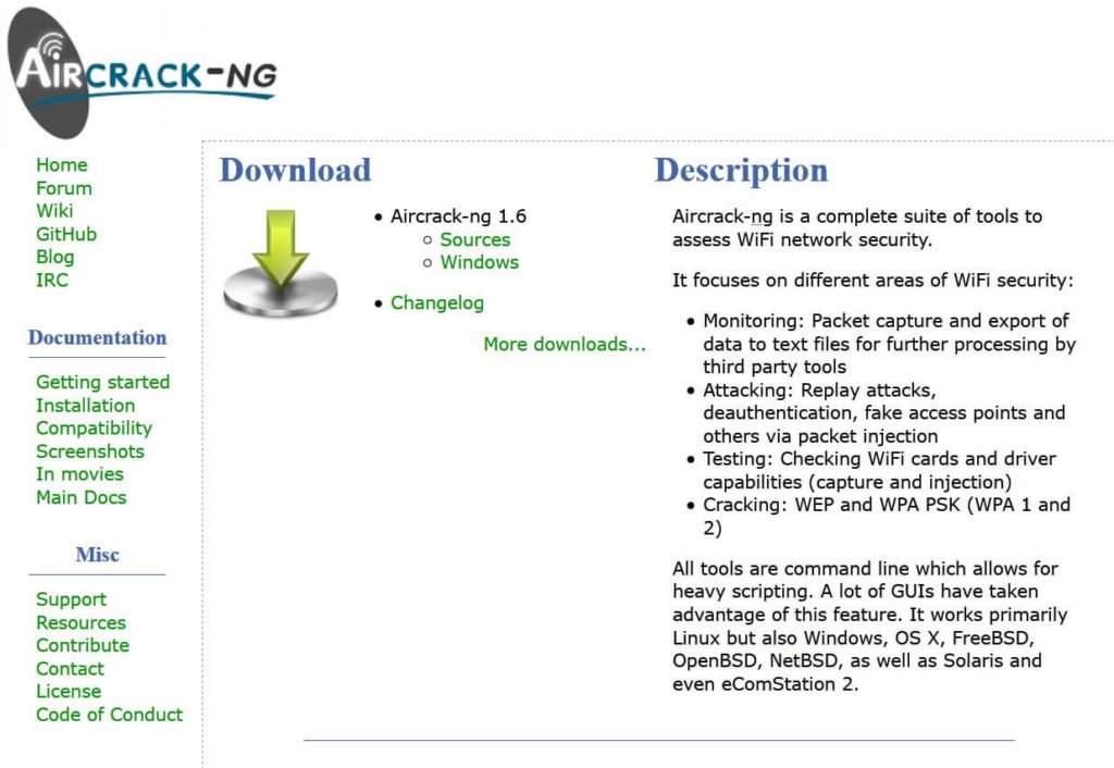 Aircrack-NG - Hacking Tools Download TOP 25 für Ethical Hacking Steffen Lippke