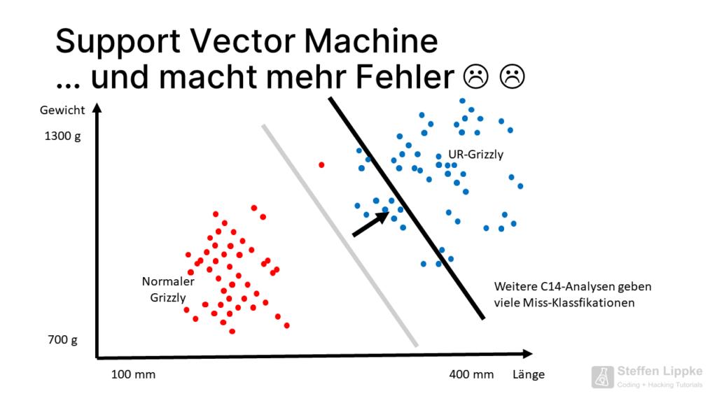 07 noch mehr Fehler - Was ist eine Support Vector Machine Tutorial Steffen Lippke Coding Lab