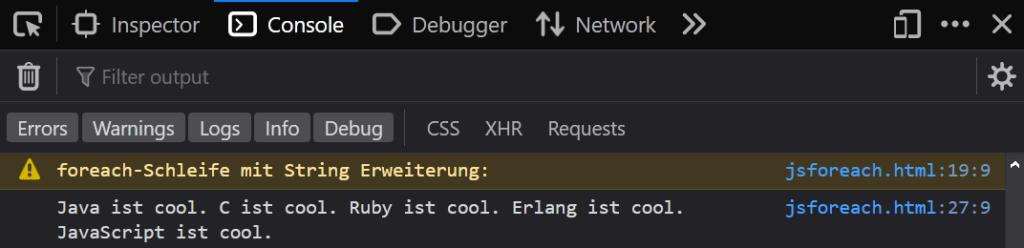 02 mit String Erweiterung - JavaScript foreach Coding Lab Steffen Lippke einfach erklärt