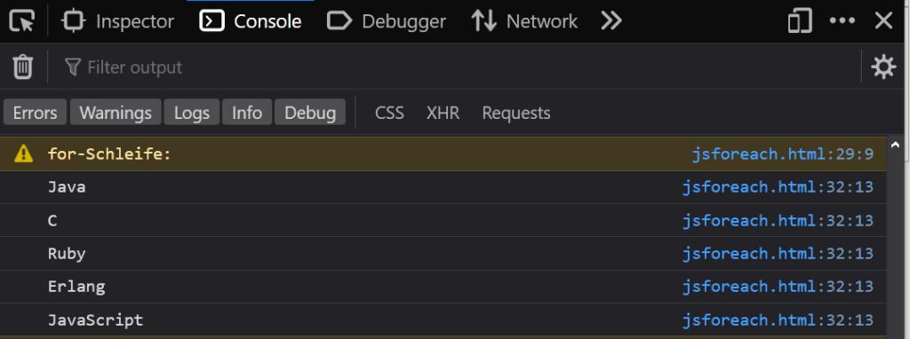 03 normale for - JavaScript foreach Coding Lab Steffen Lippke einfach erklärt