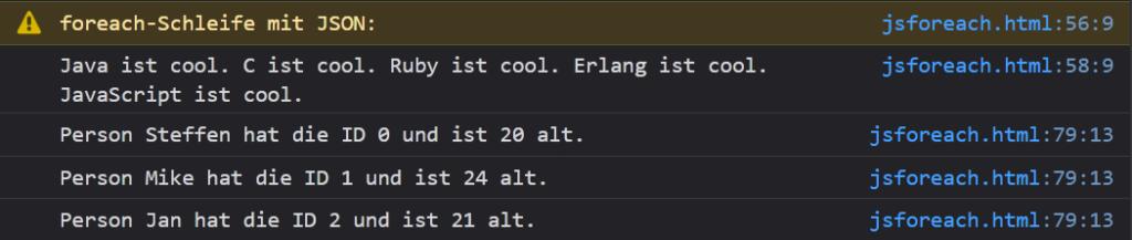 06 mit JSON - JavaScript foreach Coding Lab Steffen Lippke einfach erklärt