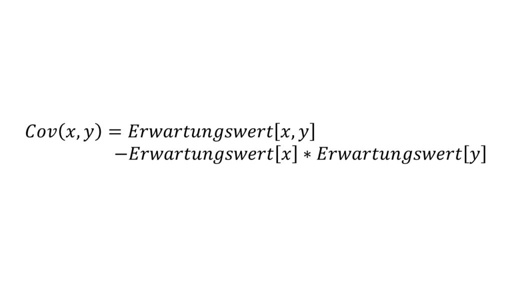 Formel für die Kovarianz - Principal Component Analysis Hautpkomponentenanalyse Steffen Lippke einfach erklärt