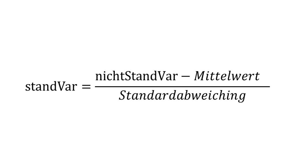 Standardiserung ausgeschreiben - Principal Component Analysis Hautpkomponentenanalyse Steffen Lippke einfach erklärt