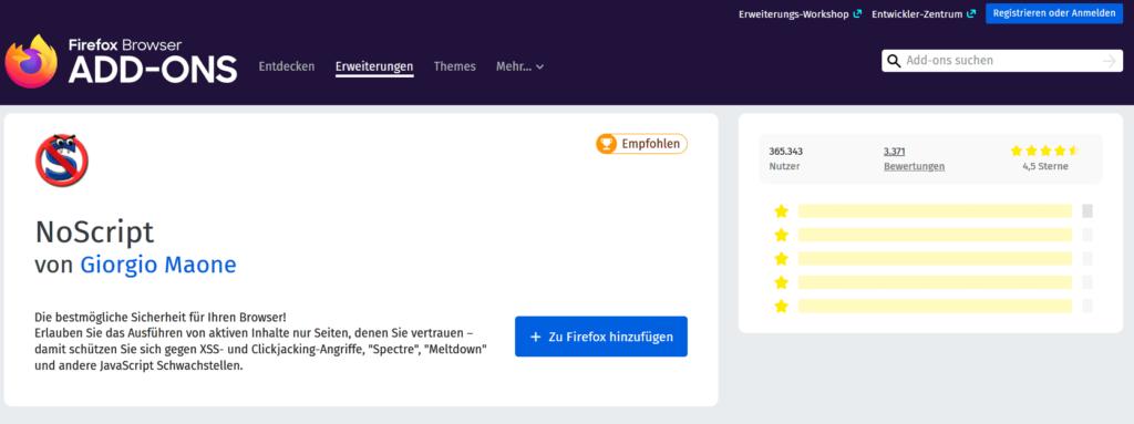 07 NoScript in Firefox - anonym surfen online Browser Beginner Steffen Lippke Hacking Series
