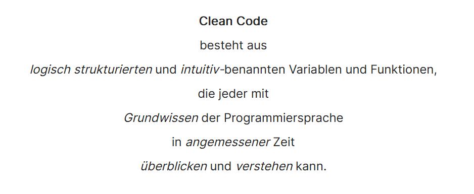 10 Clean Code Definition - Programmieren lernen Steffen Lippke Coding Lab