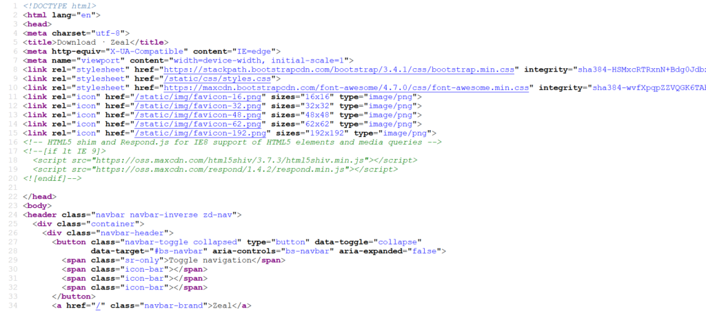 HTML Code im Browser