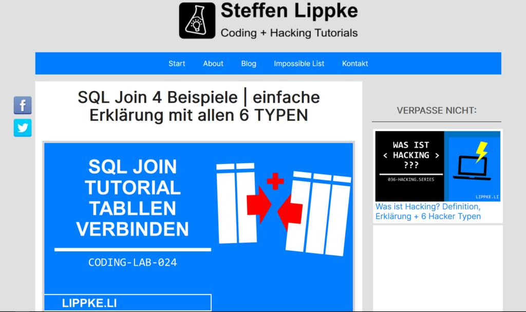 05 SQL Join zum Daten verknüpfen - Vorratsdatenspeicherung Pro Contra Steffen Lippke Hacking Series