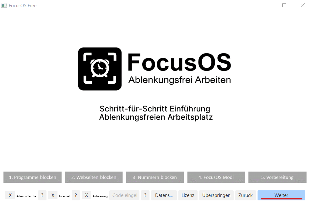 Intro of FocusOS