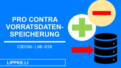 Vorratsdatenspeicherung Pro Contra + Technologie für Umsetzung