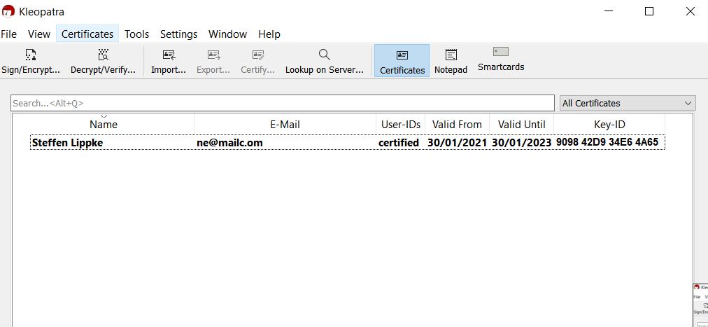 05 Fertiger Schlüssel - Email verschlüsseln Hacking Series Steffen Lippke