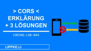 CORS Erklärung und Lösung- Steffen Lippke